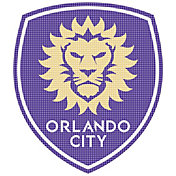 Stockdale Orlando City 12 x 12 Metallic Logo Performance Decal