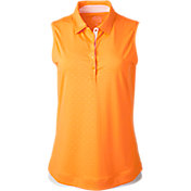 Slazenger Women's Impulse Embossed Dot Sleeveless Golf Polo