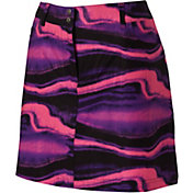 Slazenger Women's Neon Collection Marble Print Woven Golf Skort