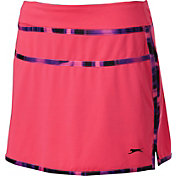 Slazenger Women's Neon Collection Marble Trim Knit Golf Skort