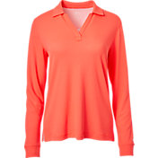 Slazenger Women's Tech Thin Stripe Long Sleeve Golf Polo