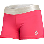 Soffe Girls' Metallic Shorts