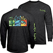 Salt Life Men's Trippy Boxes Long Sleeve Shirt