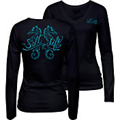 Salt Life Women's Seahorse Daze Scoop Neck Long Sleeve Shirt