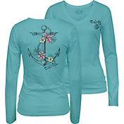 Salt Life Women's Tropical Anchor V-Neck Long Sleeve Shirt