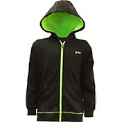 STX Little Boys' Hi-Tech Full-Zip Embossed Hoodie