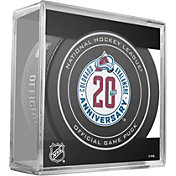 Sher-Wood Colorado Avalanche 20th Anniversary Official Game Puck