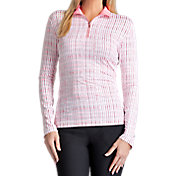 Tail Women's Mesh Inserts Quarter-Zip Golf Pullover