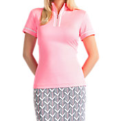 Tail Women's Mock Neck Mesh Inserts Golf Polo