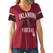 Touch by Alyssa Milano Women's Oklahoma Sooners Crimson Motion Football T-Shirt