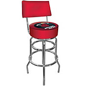 Trademark Games Miami Heat Padded Swivel Bar Stool with Back