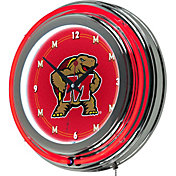 Trademark Games Maryland Terrapins 14'' Neon Clock