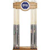 Trademark Games TCU Horned Frogs 2-Piece Wood and Mirror Wall Cue Rack