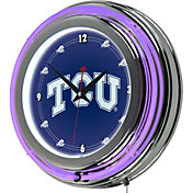 Trademark Games TCU Horned Frogs 14'' Neon Clock