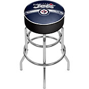 Trademark Games Winnipeg Jets Padded Bar Stool