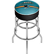 Trademark Games San Jose Sharks Padded Bar Stool