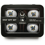 Team Golf Milwaukee Brewers 4-Ball Tin Set