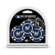 Team Golf Milwaukee Brewers Poker Chips Ball Markers - 3-Pack