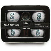 Team Golf Seattle Mariners 4-Ball Tin Set
