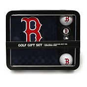 Team Golf Boston Red Sox Embroidered Towel Tin Set