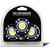 Team Golf Michigan Wolverines Poker Chips Ball Markers - 3-Pack