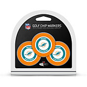 Team Golf Miami Dolphins Poker Chips Ball Markers - 3-Pack