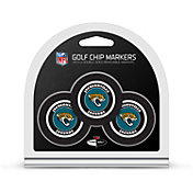 Team Golf Jacksonville Jaguars Poker Chips Ball Markers - 3-Pack