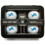 Team Golf Detroit Lions 4-Ball Tin Set