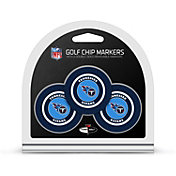 Team Golf Tennessee Titans Poker Chips Ball Markers - 3-Pack
