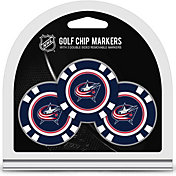Team Golf Columbus Blue Jackets Poker Chips Ball Markers - 3-Pack