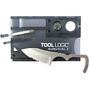 Tool Logic Survival Card with Fire Starter & Compass