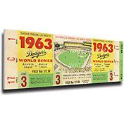 That's My Ticket Los Angeles Dodgers 1963 World Series Canvas Mega Ticket