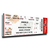 That's My Ticket Los Angeles Angeles Jered Weaver No Hitter Mega Ticket