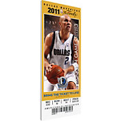 That's My Ticket Dallas Mavericks 2011 NBA Finals Game 5 Canvas Ticket