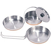Stansport Stainless Steel Three Piece Mess Kit