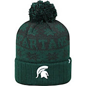 Top of the World Men's Michigan State Spartans Green/Black Sub Arctic Knit Beanie