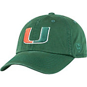 Top of the World Men's Miami Hurricanes Green Crew Adjustable Hat