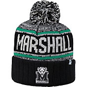 Top of the World Men's Marshall Thundering Herd Black/Green/White Acid Rain Knit Beanie