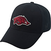 Top of the World Men's Arkansas Razorbacks Black Premium Collection M-Fit Hat