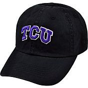 Top of the World Men's TCU Horned Frogs Black Crew Adjustable Hat