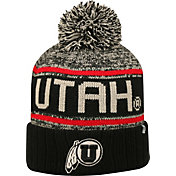 Top of the World Men's Utah Utes Black/White/Crimson Acid Rain Knit Beanie