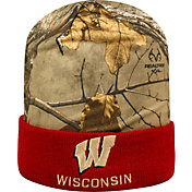 Top of the World Men's Wisconsin Badgers Camo/Red Realtree Cool Beanie
