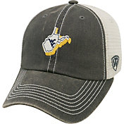 Top of the World Men's West Virginia Mountaineers Grey/White United Adjustable Snapback Hat