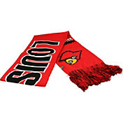 Top of the World Women's Louisville Cardinals Cardinal Red/Black Polar Vortex Scarf