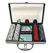 Trademark Poker 200 Pro Clay Casino Chip Poker Set and Case