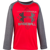Under Armour Little Boys' Branded Baseball Long Sleeve Shirt