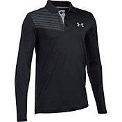 Under Armour Boys' Best Shot Long Sleeve Golf Polo