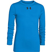 Under Armour Boys' ColdGear EVO Fitted Crewneck Long Sleeve Shirt