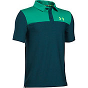 Under Armour Boys' Match Play Blocked Golf Polo