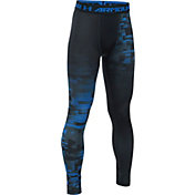 Under Armour Boys' ColdGear Armour Up Printed Leggings